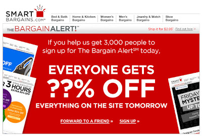 Click to view this June 21, 2011 SmartBargains email full-sized