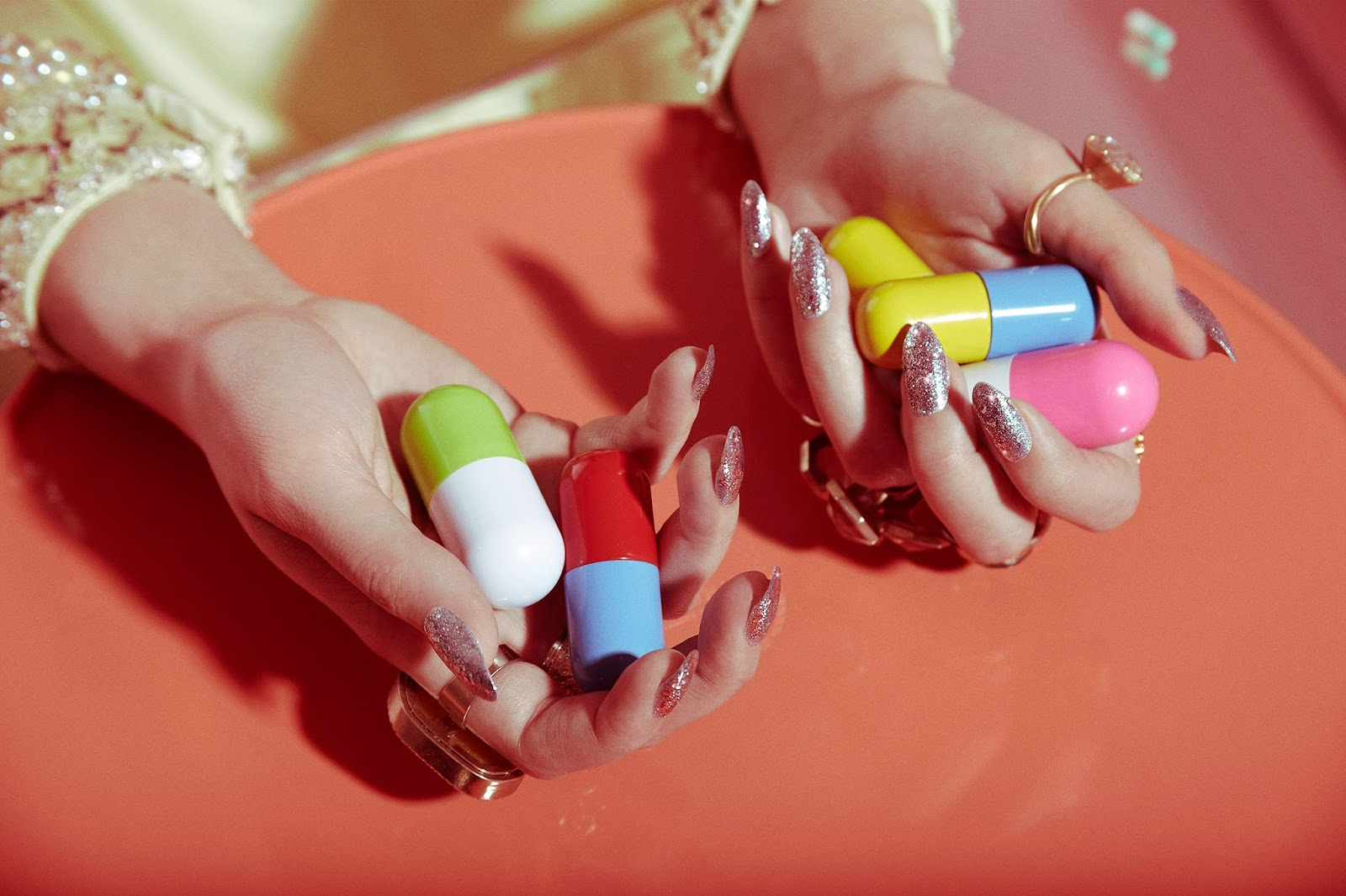Valley of the Dolls Beauty Shoot Editorial-Manicure Nails Pills ...