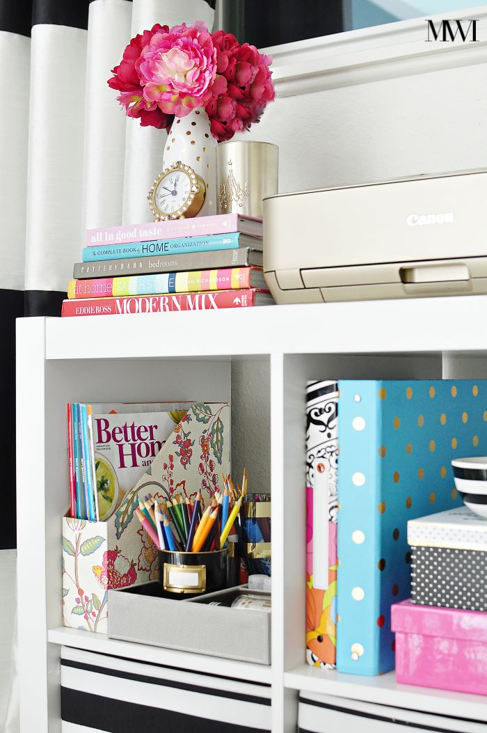 Functional, chic and affordable storage solutions from the Better Homes & Gardens collection at Walmart that are perfect for a home office or craft room.