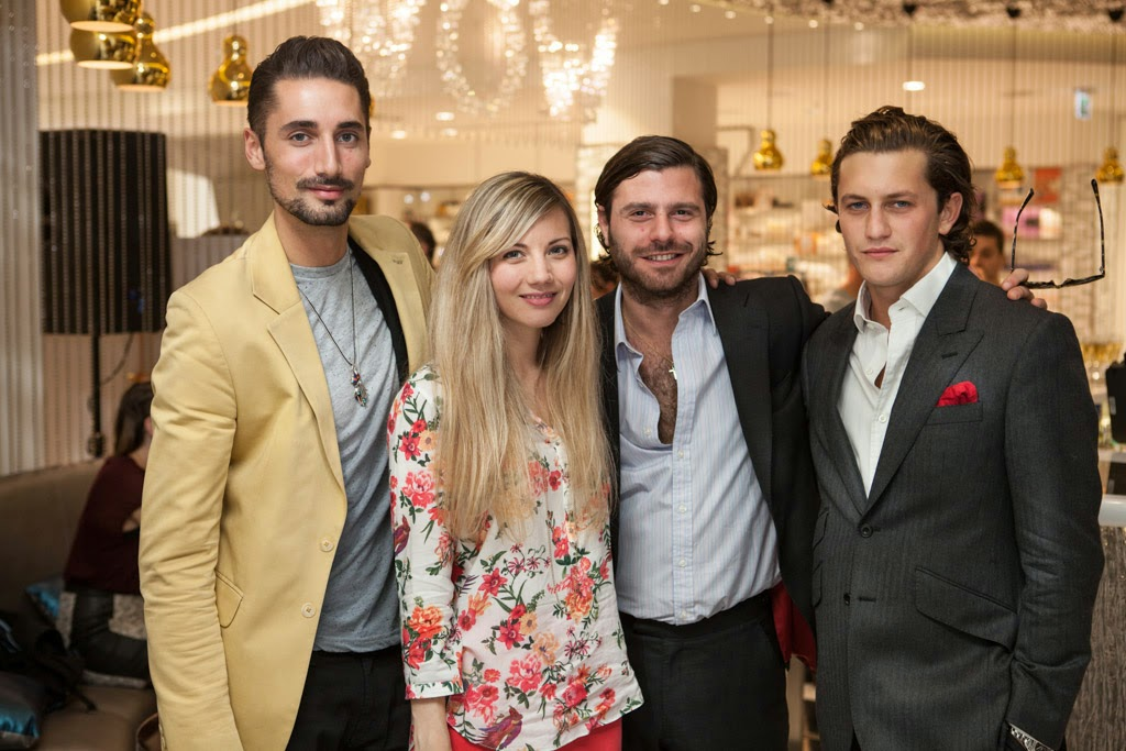 MadeinChelsea TaylorMorris launch event Harvey Nichols fashion brand designer celebrities  StyleETC Hugo Taylor