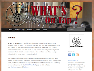 What's On Tap website