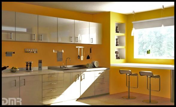 Decoracion de Interiores: Cocinas Modernas de Color Amarillo
