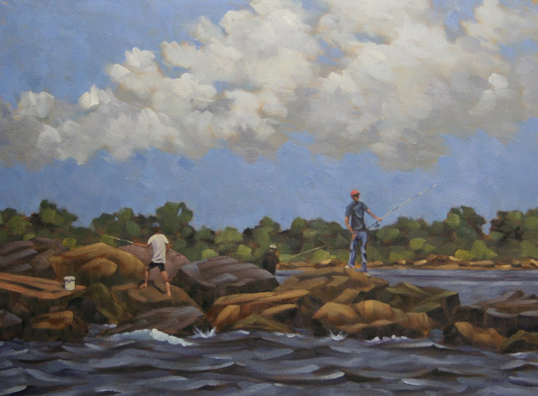 """On The Rocks"" 18""x 20"" oil on canvas $900 *SOLD*"