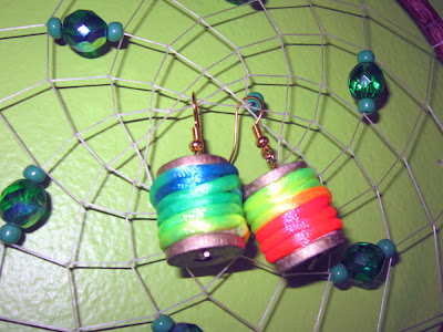 DIY Spool Thread Earrings