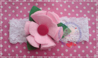 Pink Flower Headband