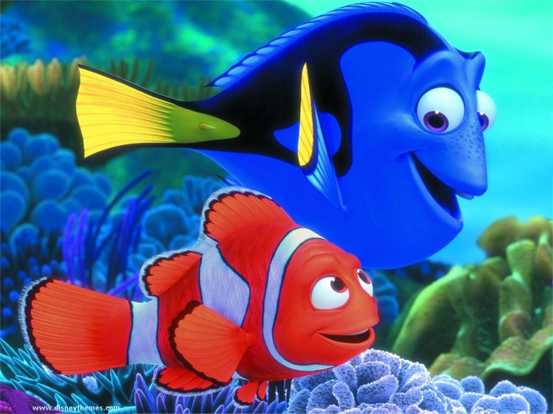 Disney finding nemo fish cartoon character for Fish cartoon movie