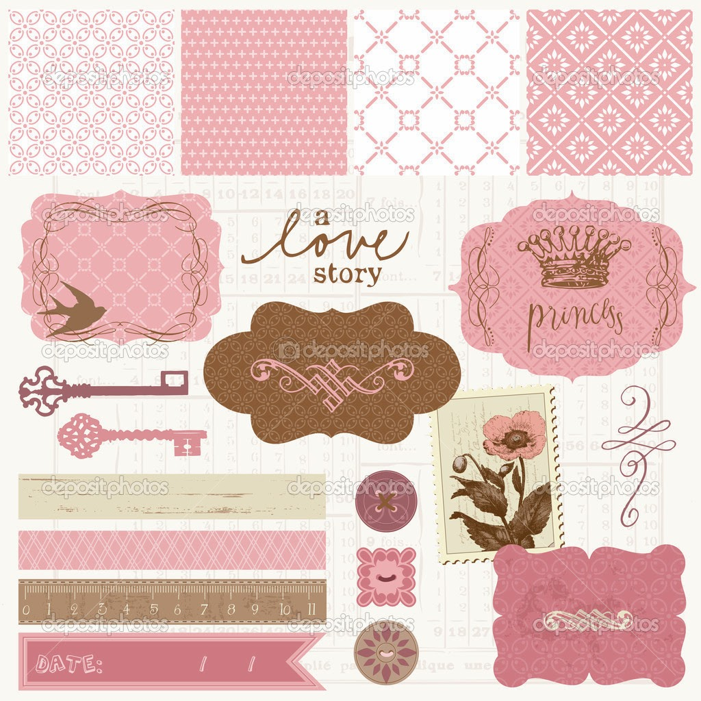 Papel de carta papeles para scrap en tonos rosas The designlover