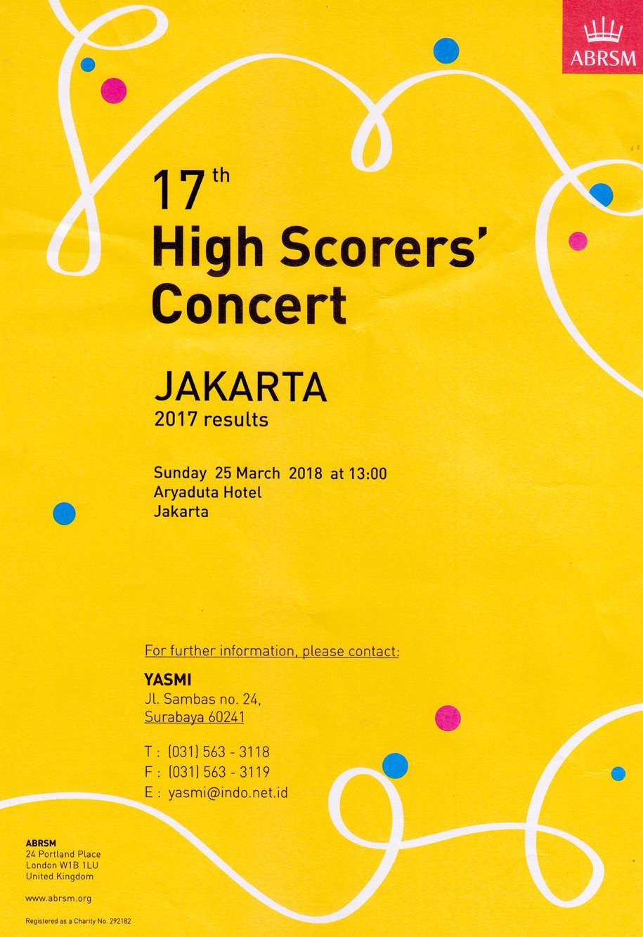 ABRSM 17th HIGH SCORERS' CONCERT