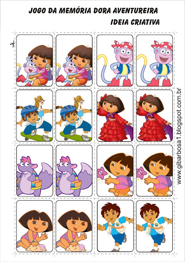 Jogo da Memória Dora Aventureira
