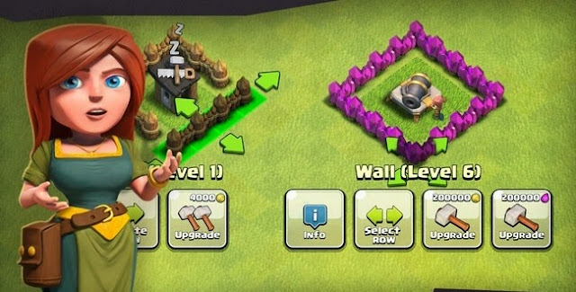 Wall Upgrade Clash of clans