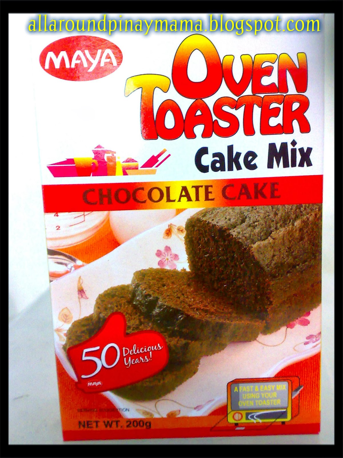Chocolate Surprise Cake Using Maya Oven Toaster Cake Mix Chocolate Cake