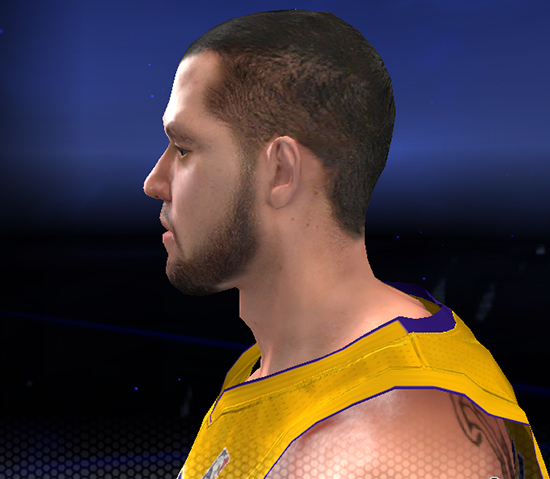 NBA 2K14 Jordan Farmar Cyberface with Beard Patch