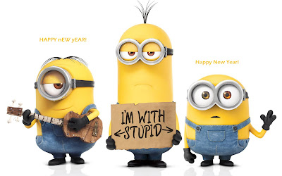 Minions New Year 2016 Funny Wallpapers HD
