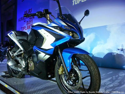 Blue Color Bajaj Pulsar 200 SS - Spy Photo