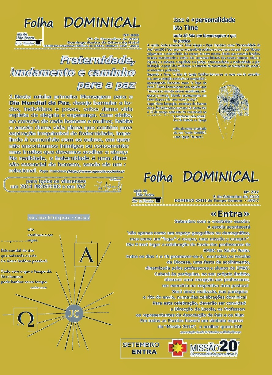 FOLHA DOMINICAL: 2010, 2011, 2012, 2013