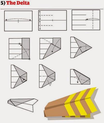 Как сделать оригами из бумаги и самолетами 523