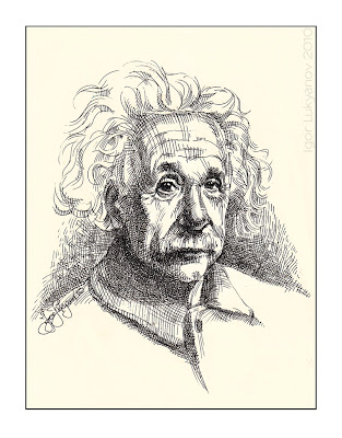 Albert Einstein portrait (face of the scientist)