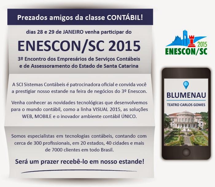 Venha nos visitar no ENESCON em Blumenau - 28 e 29 de janeiro de 2015