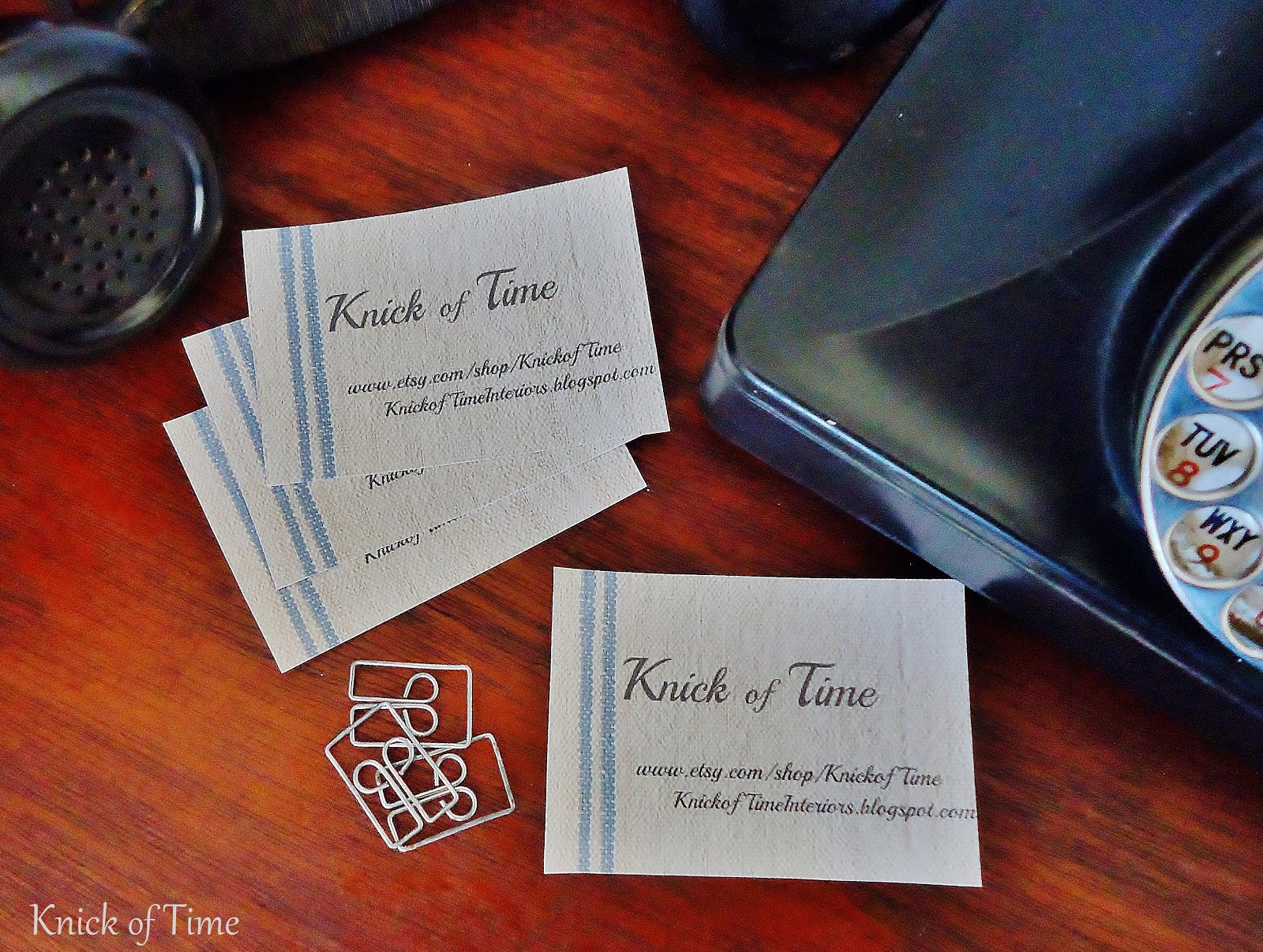 Grain Sack Business Cards & Price Tags | Knick of Time