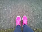 Różowe do biegania:)
