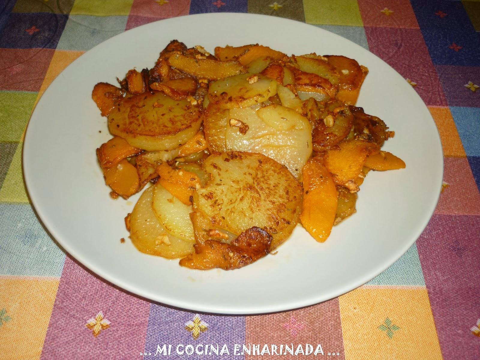 Mi cocina enharinada patata frita y calabaza - Cocinar calabaza frita ...