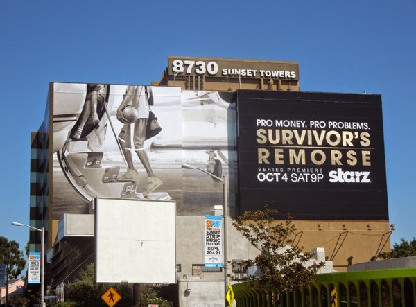 Giant Survivor's Remorse series premiere Starz billboard