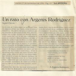 UN RATO CON ARGENIS RODRÍGUEZ