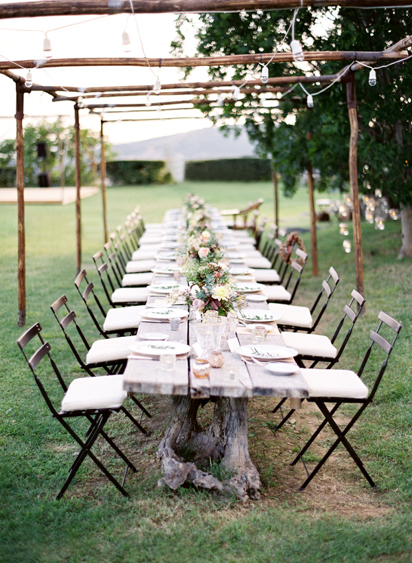Inspiration for weddings invitations and stationery for Outdoor wedding table decorations