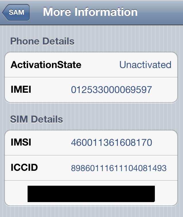 IMSI Number