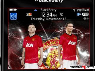 Tema BlackBerry 8520 Manchester United Download Tema BlackBerry 8520 Gratis 2012