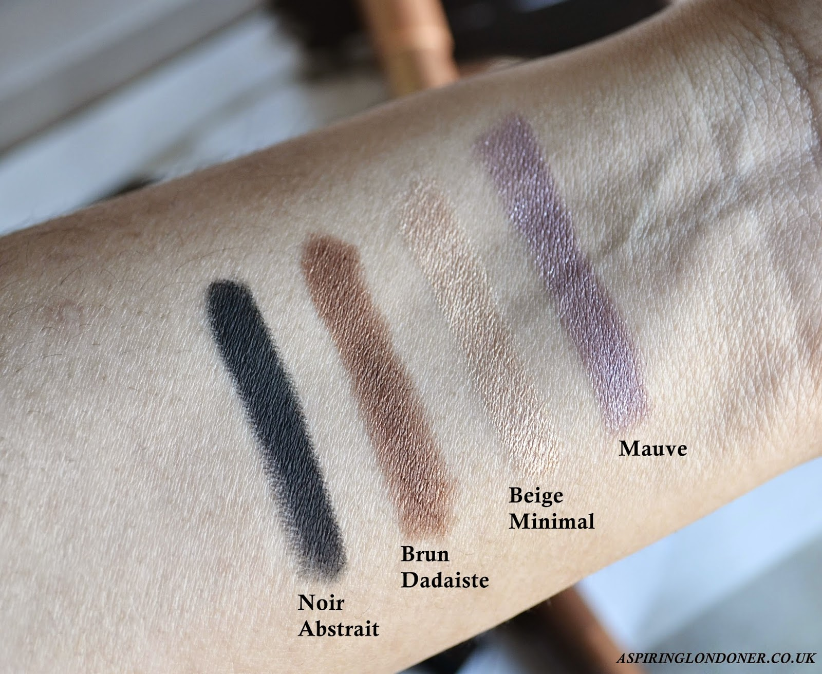 Bourjois Colorband 2-in-1 Eyeshadow & Liner Swatches - Aspiring Londoner