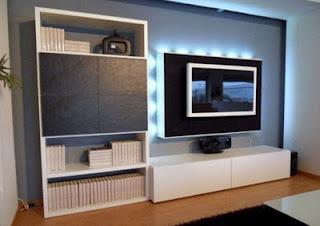 LCD TV Furniture Book Shelf Designs