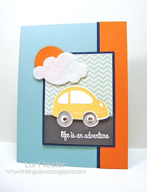 Life Is an Adventure card-designed by Lori Tecler-stamps from Reverse Confetti
