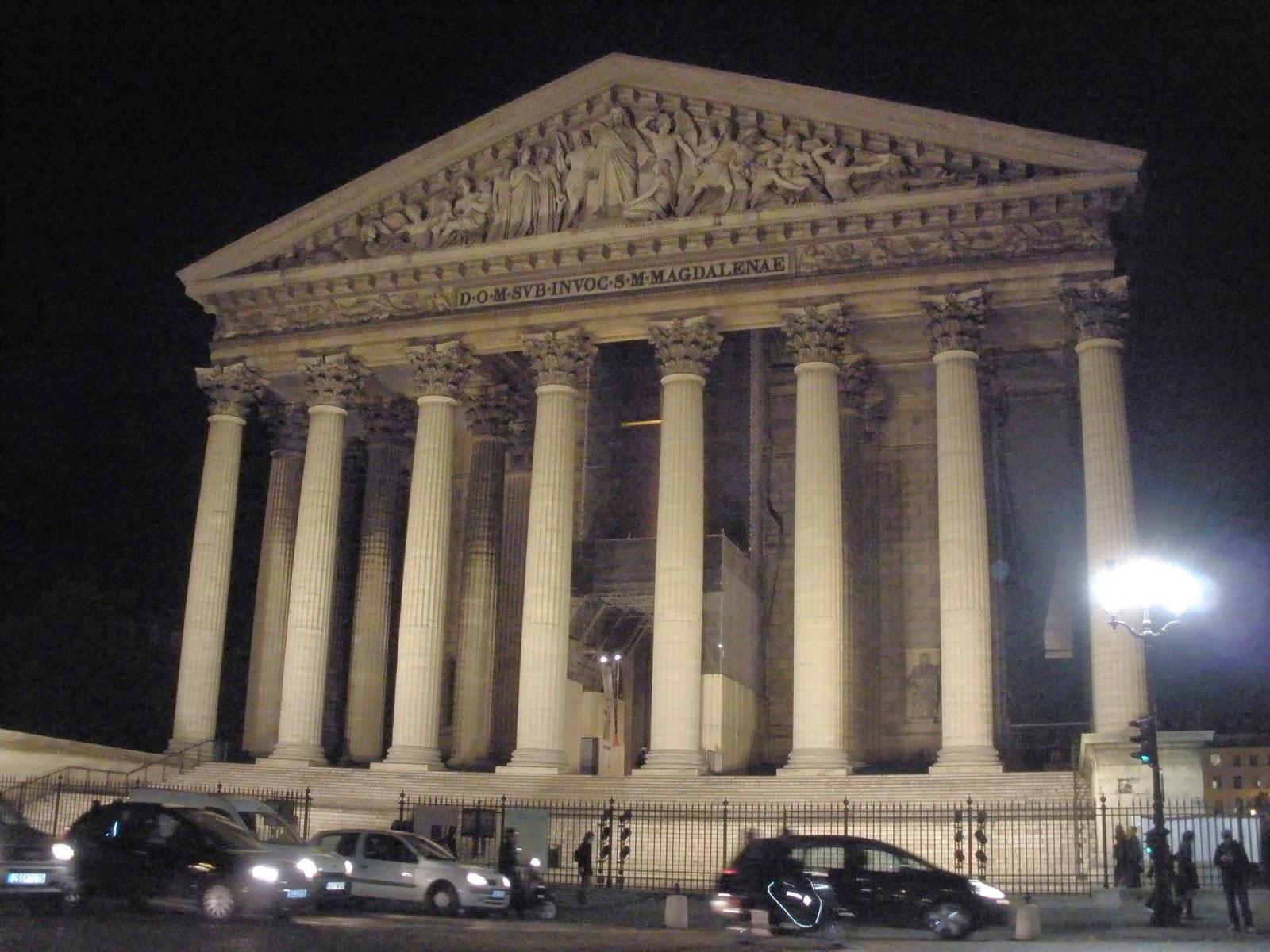 Iglesia de La Madeleine, de estilo clásico como la Antigua Grecia