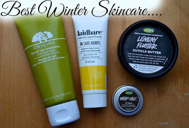 Products I recommend for winter skincare