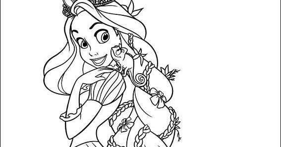 Rapunzel disegno da colorare n 2 for Disegni da colorare e stampare di rapunzel