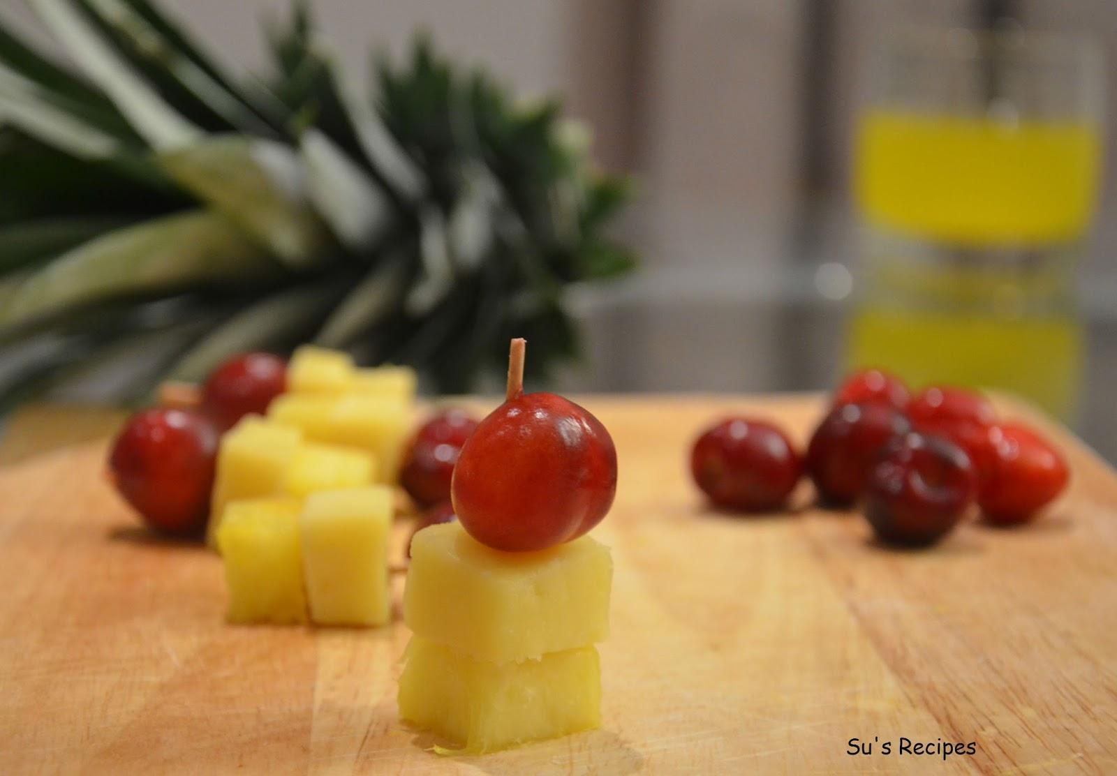 Pineapple Cheese Cherry, cheese cherry, cheesy bites