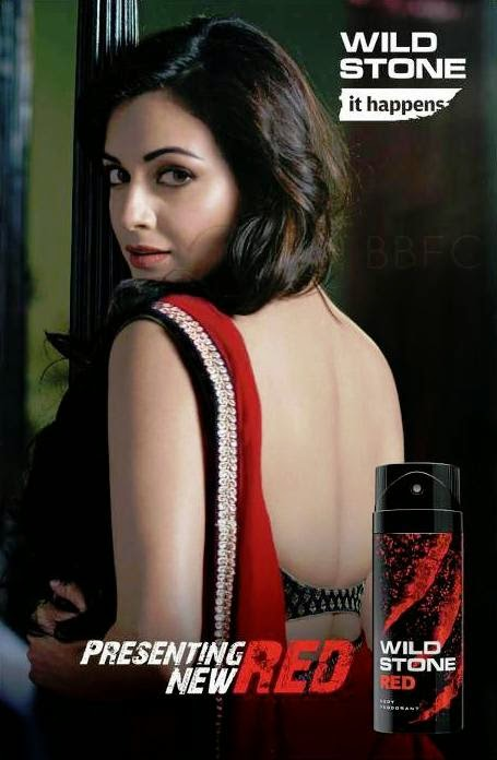 ... Latest Photoshoot for Wild Stone Red Deo Advertisement | Indian Ramp Gold And White Indian Dress