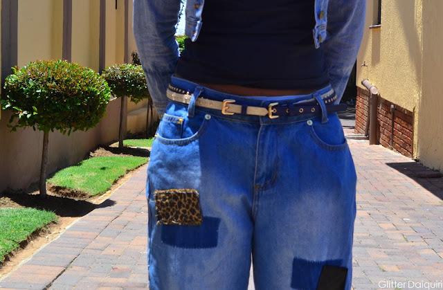 denim on denim, boyfriend jeans, patchwork