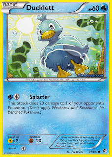 Ducklett Plasma Blast Pokemon Card