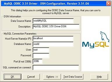 how to export live data to an mysql database