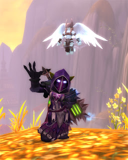 Goblin Death Knight in Judgement Recolor Transmog Set with Unborn Val'kyr Battle Pet