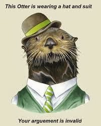 otter, tie, suit, hate, argument, invalid