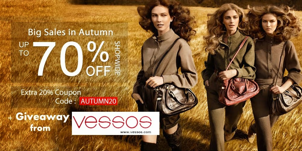 Huge Autumn Sale + Giveaway from Vessos