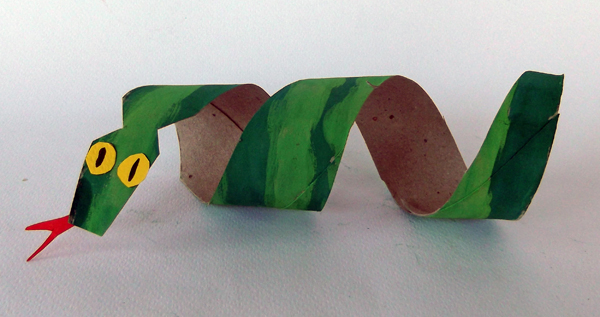 snake, toilet paper roll snake, snake craft, snake art project