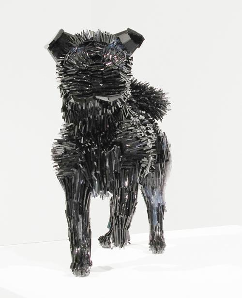 Marta-Klonowska-Animal-Glass-Shard-Sculpture-La-Marquesa-de-Pontejos-afte- Francisco-de Goya-1c