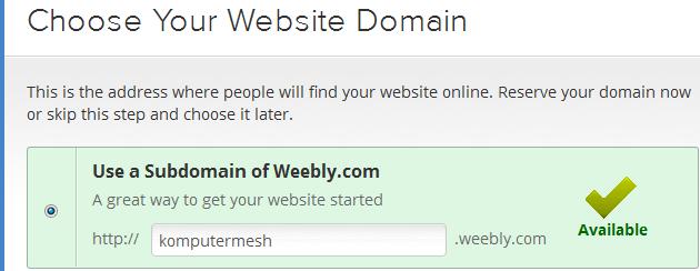 Cara Membuat Website/blog Gratis di Weebly.com