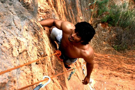 Vidyut Jamwal - rock climbing at Argentina