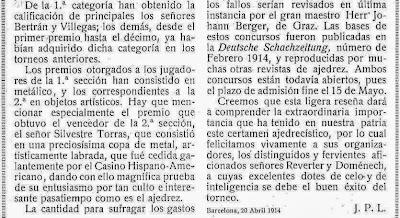 Artículo de José Paluzie y Lucena en la revista Stadium del 30 de Abril de 1914 (2)