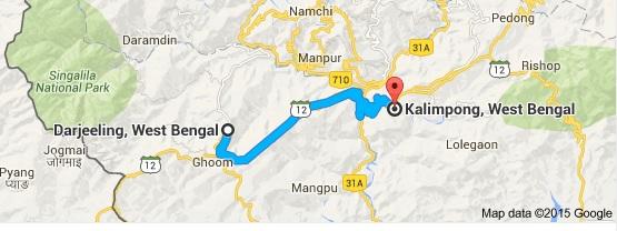 Darjeeling to Kalimpong